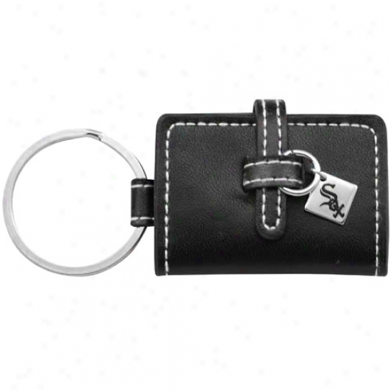 Chicago White Sox Black Leather Photo Album Keychain