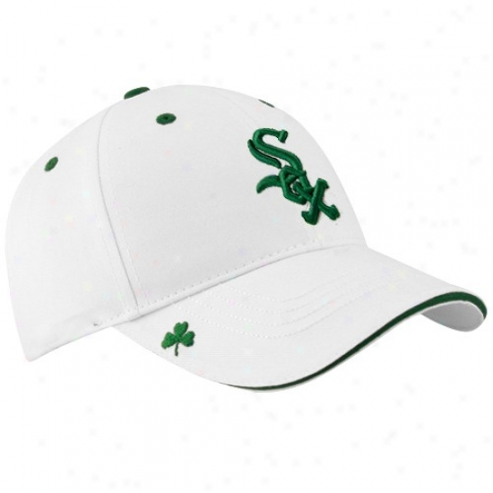 Chicago White Sox Cap : New Era Chicago White Sox White Hooley St. Patrick's Day dAjustable Cap