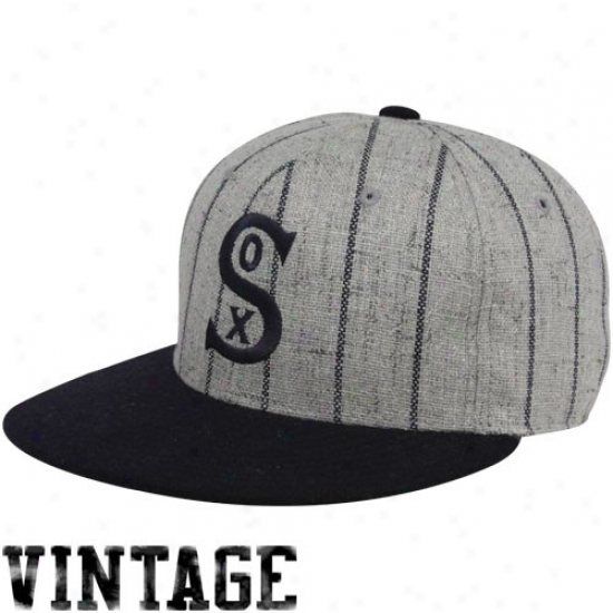 Chicago Pure Sox Gear: Chicago White Sox Gay Pinstripe 1917 Throwback Cooperstown Fitted Hat