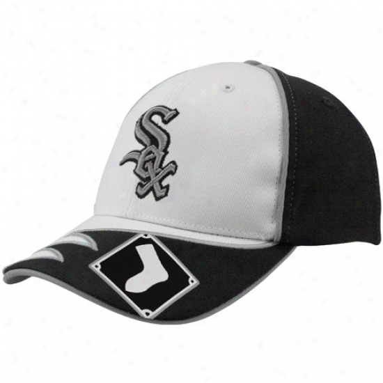Chicago White Sox Gear: Twins '47 Chicago White Sox White-black Bazoule Adjustable Hat