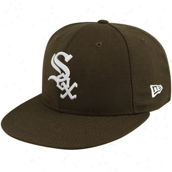 Chicago White Sox Hats : New Era Chicago White Sox Brown League Basic Fitted Hats