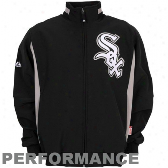 Chicago White Sox Jackets : Majestic Chicago White Sox Youth Black Therma Base Premier Elevation Composition Jackets