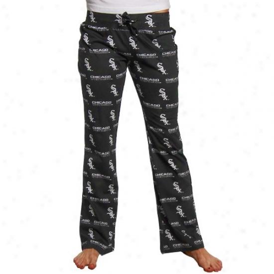 Chicago White Sox Ladies Black Genesis Pajama Pants