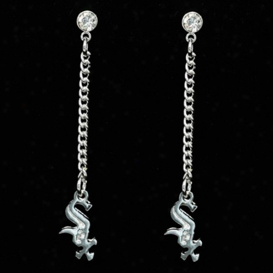 Chicago White Sox Ladies Sterling Silver Dangle Charm Mail Earrings
