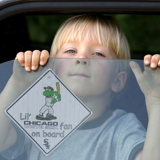 Chicago White Sox Lil' Fan On Board Car Signal