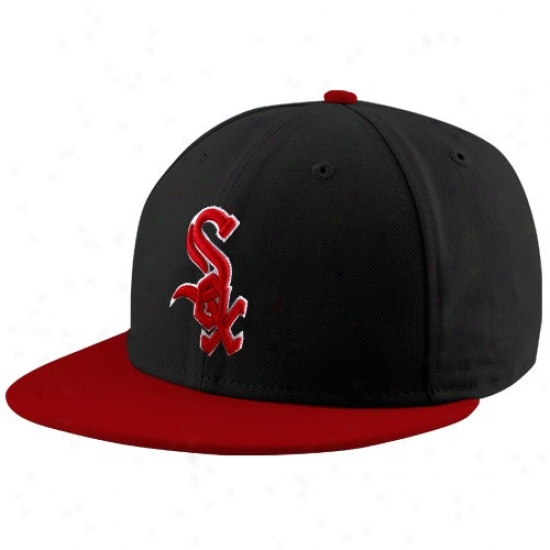 Chicago Pale Sox Merchandise: New Era Chicago White Sox Black-red League 59fifty Fitted Cardinal's office