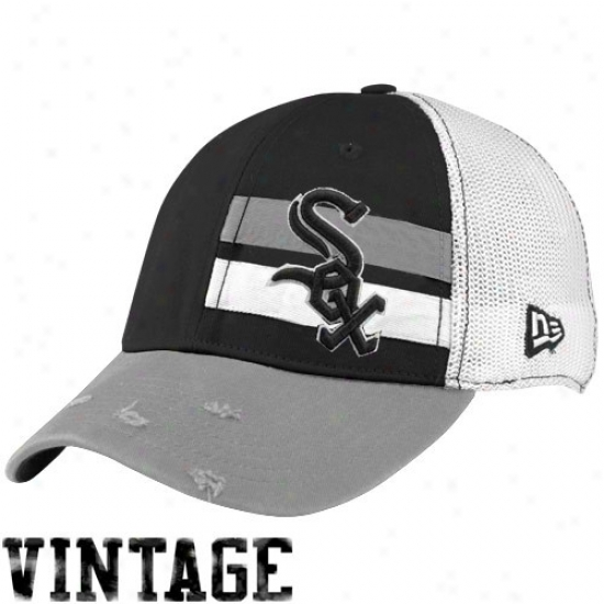 Chicago White Sox Commodities: Just discovered Era Chicago White Sox White Double Stripe Vintage Flex Fit Hat