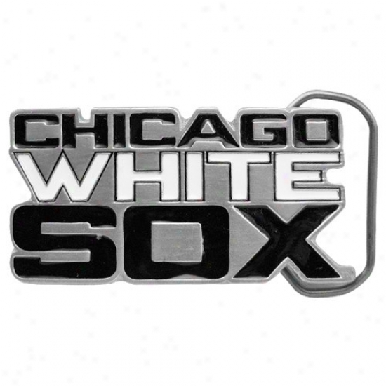 Chicago White Sox Pewter Team Logo Belt Buckle