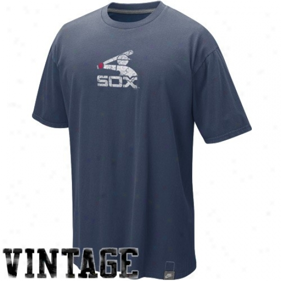 Chicago White Spx Shirt : Nike Chicago White Sox Navy Blue Cooperstown Logo Wahed Organic Vintage Shirt