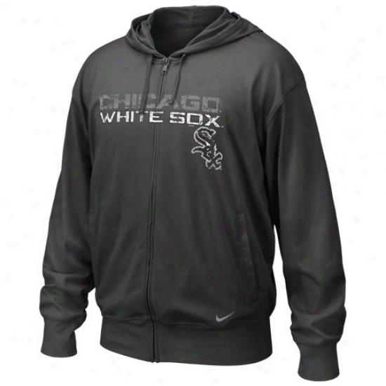Chicago Pale Sox Sweatshirt : Nike Chicago White Sox Black Mlb Pick Off Full Zip Long Sleeve Sweatshirt T-shirt