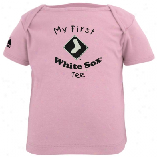 Chicago White Sox Tee : Majestic Chicago White Sox Infant Girls Stab My First Tee