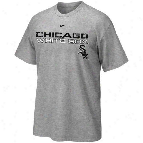 Chicago White Sox Tee : Nike Chicago White Sox Youth Ash Distressed Mlb Tes