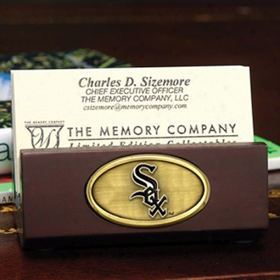 Chicago White Sox Wooden Business Card Holder
