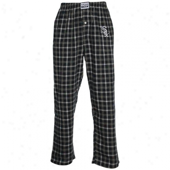 ChicaboW hite Sox Youth Black Plaid Tailgate Flannel Pajama Pants