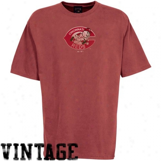 Cincinnati Reds Appatel: Majestic Ciincinnati Reds Red Cooperstown Big Time Play T-shirt