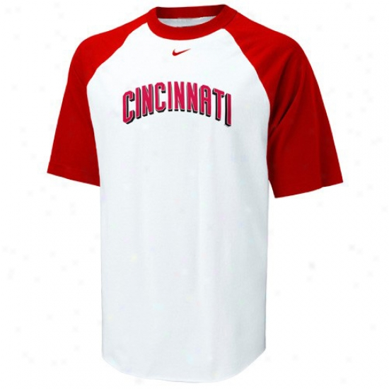 Cincinnati reds attire nike cincinnati reds white rollin for Custom t shirts cincinnati