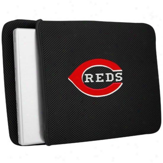 Cincinnati Reds Black Mesh Laptop Protector