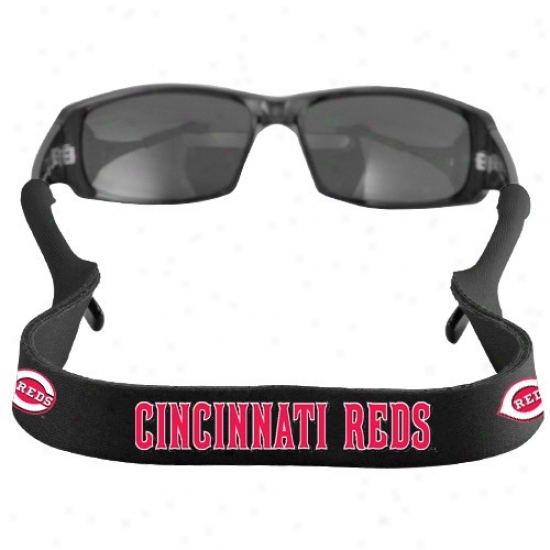 Cincinnati Reds Black Neoprene Retainer Sunglasses Holder