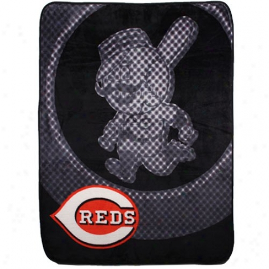 Cincinnati Reds Black Retro Royal Plush Blanket Throw
