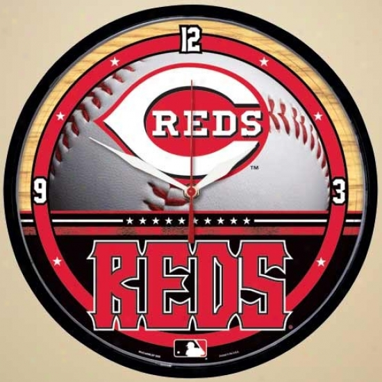 Cincinnati Reds Half Ball Wall Clock
