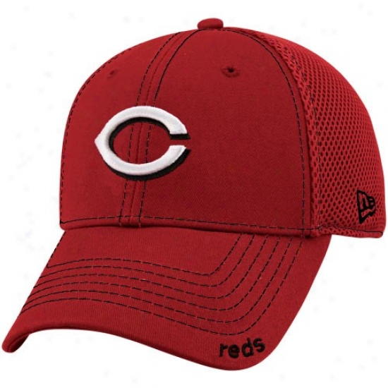 Cincinnati Reds Hats : New Epoch Cincinnati Reds Red Neo 39thirty Stretch Fit Hats