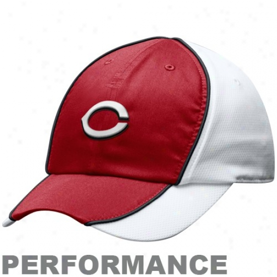 Cincinnati Reds Hats : Nike Cincinnati Reds Ladies Red-maroon Mlb Nikefit Adjustable Performance Hats