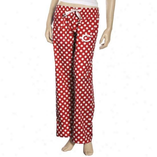 Cincinnati Reds Ladies Red Galaxy Pajama Pants