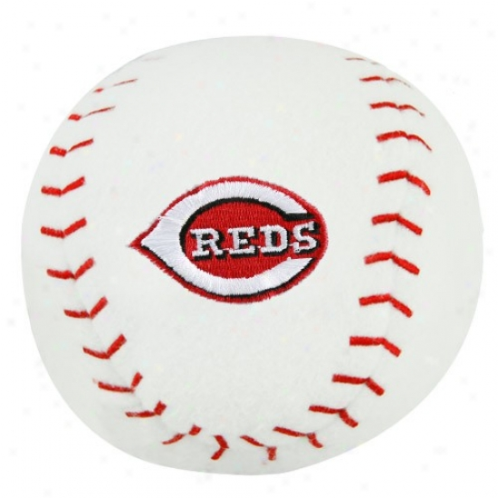 Cincinnati Reds Plush Team Baseball Rattle