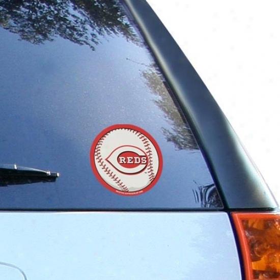 Cincinnati Reds Round Vinyl Baseball Decal