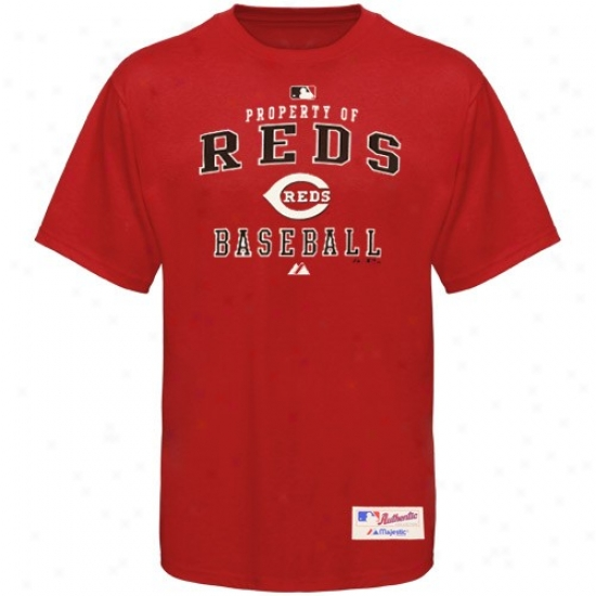 Cincinnati Reds T Shirt : Majestid Cincinnati Reds Red Property Of T Shirt