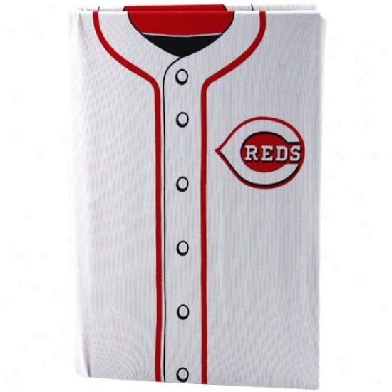 Cincinnati Reds White Jersey Stretchable Book Cover