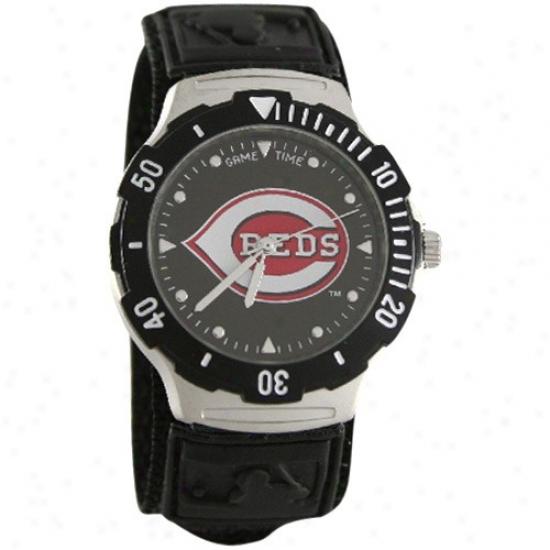 Cincinnati Reds Wrist Watch : Cincinnati Reds Black Agent V Wrist Watch