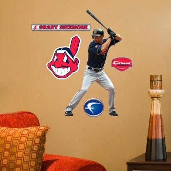 Cleveland Indians #24 Grady Sizemore Plyaer Junior Fathead