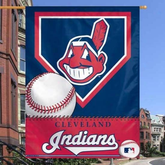Cleveland Indians Banner : Cleveland Idnians 27'' X 3'' Home Plate Vertical Banner Banner
