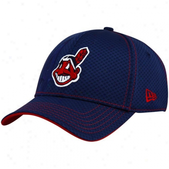 Cleveland Indians Cap : New Era Cleveland Indians Ships of war Blue Our Name Acl 39thirty Flex Fit Cap