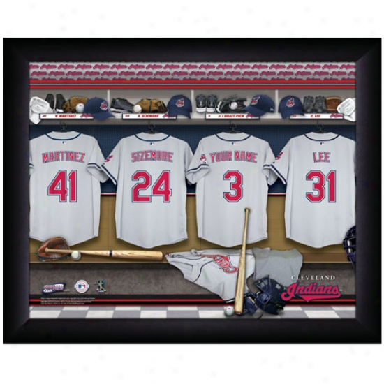 Cleveland Indians Customized Locker Room Wicked Framed Photo