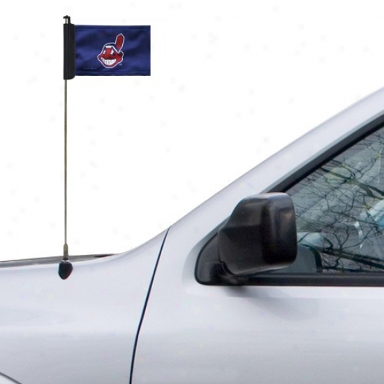 Cleveland Indians Flags : Cleveland Indians Navy Blue Antenna Flags