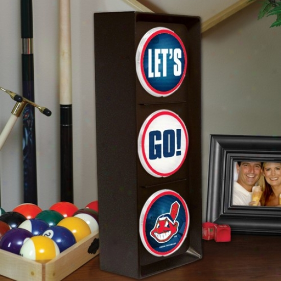 Cleveland Indians Flashing Let's Go Light