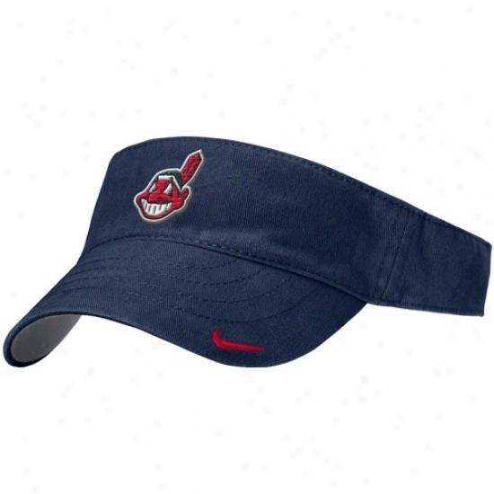 Cleveland Indians Hat : Nike Cleveland Indians Ships Blue Lasies Classic Visor