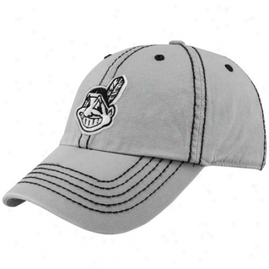 Cleveland Indians Hat : Twins '47 Cleveland Indians Gray Patton Franchise Fitted Hat
