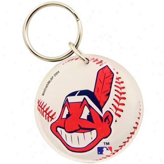 Cleveland Indians High Definution Baseball Keychain