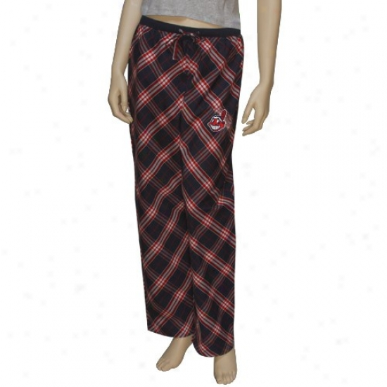 Cleveland Indians Ladies Navy Blue Kona Pajama Pants