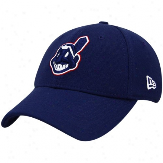 Cleveland Indians Merchandise: New Era Cleveland Indians Nav Blue Team Tonal 39thirty Fitted Hat