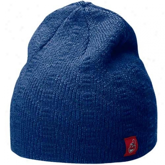 Cleveland Indians Merchandise: Nike Cleveland Indians Ladies Navy Blue Knit Beanie