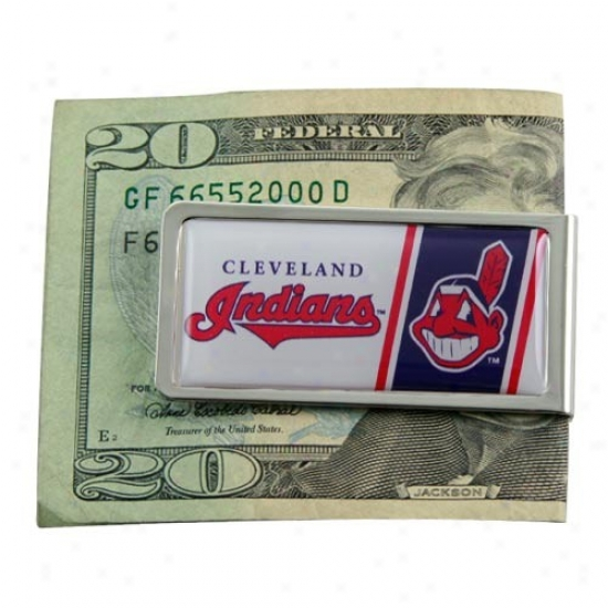Cleveland Indians Mlb Money Clip