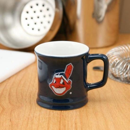 Cleveland Indians Navy Blue 2oz. Ceramic Sculpted Mug Range Glass