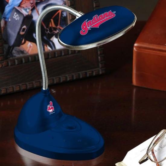 Cleveland Indians Navy Blue Led Desk Lamp
