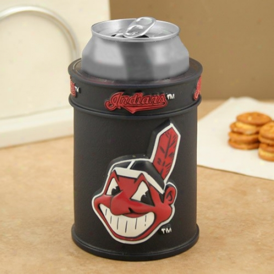 Cleveland Indians Navy Blue Plastic Can Coolie