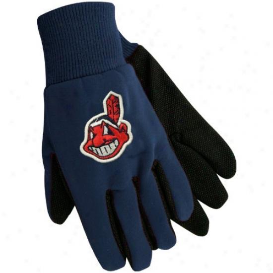 Cleveland Indians Navy Blue Utility Gloves