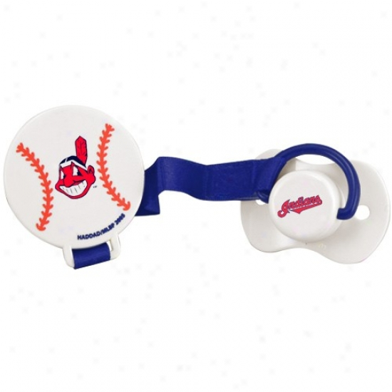 Cleveland Indians Pacifier With Clip
